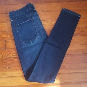 7 For All Mankind Dark Denim Skinny Jeans